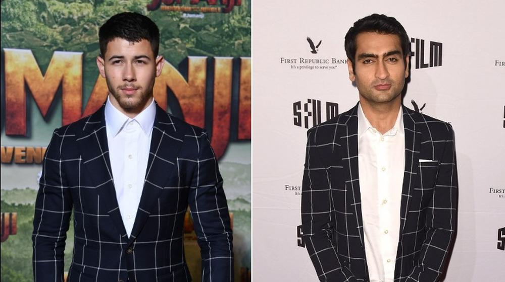Nick Jonas (à gauche) et Kumail Nanjiani (à droite) dans le même costume