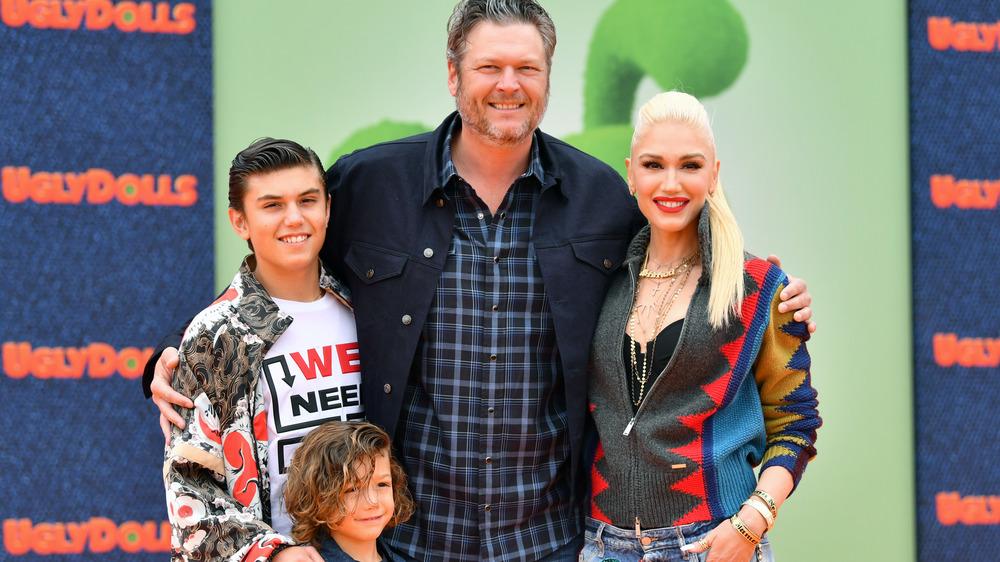 Blake Shelton et Gwen Stefani avec ses fils