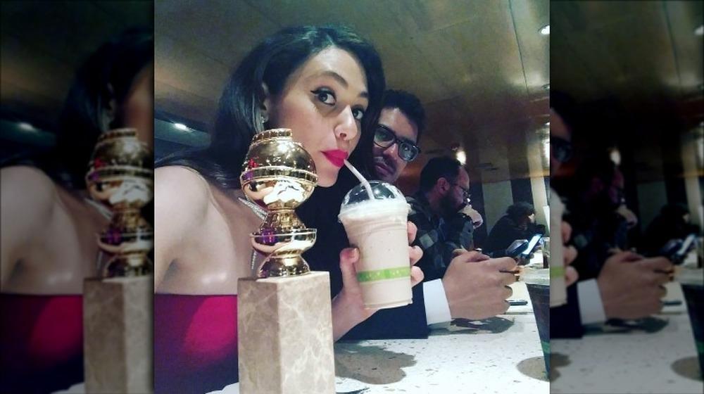 Emmy Rossum avec son Golden Globe