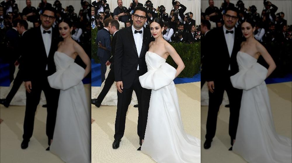 Emmy Rossum et Sam Esmail au gala du Met