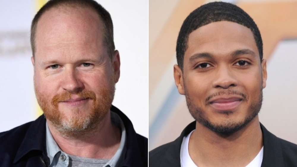 Joss Whedon et Ray Fisher souriant