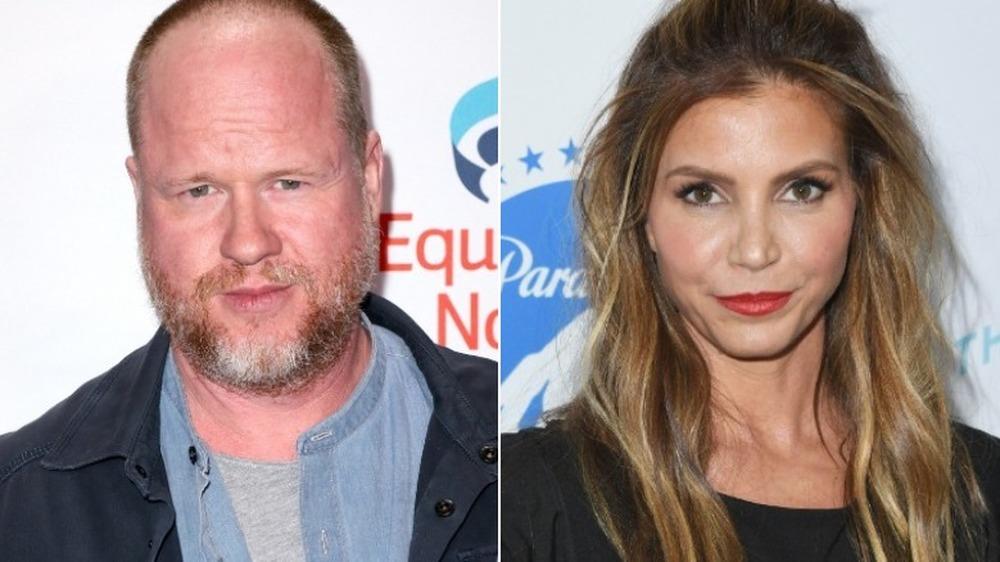 Joss Whedon et Charisma Carpenter semblent sérieux