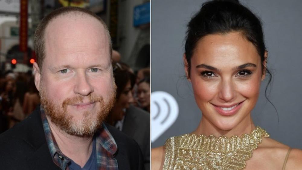 Joss Whedon et Gal Gadot souriant