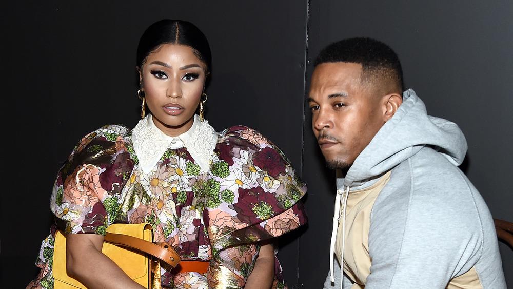 Nicki Minaj et Kenneth Petty lors d'un événement