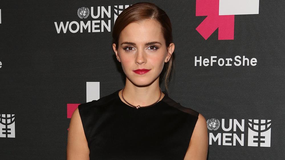 Emma Watson posant lors d'un événement HeForShe