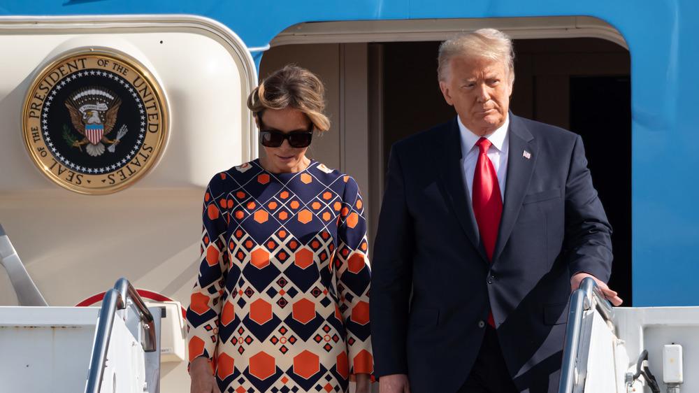 Melania et Donald Trump quittent Air Force One le jour de l'inauguration