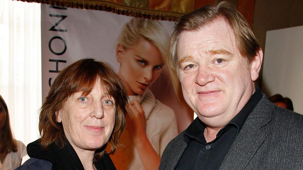 Mary Weldon et Brendan Gleeson souriant