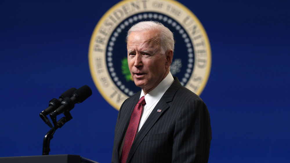 Joe Biden parle à Washington, DC