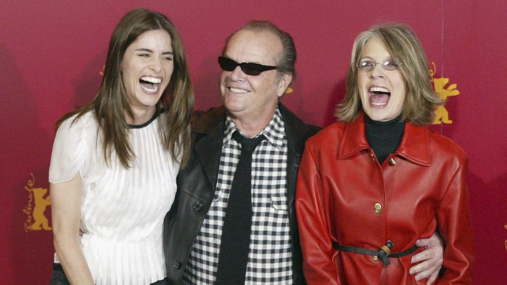 Jack Nicholson avec Amanda Peet et Diane Keaton, tous en riant