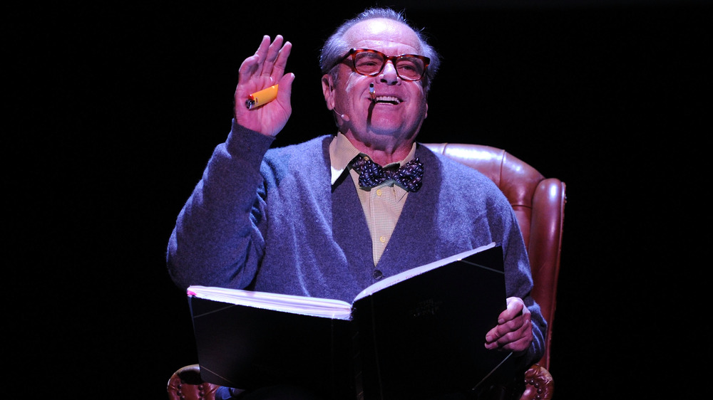 Jack Nicholson sur scène, lecture