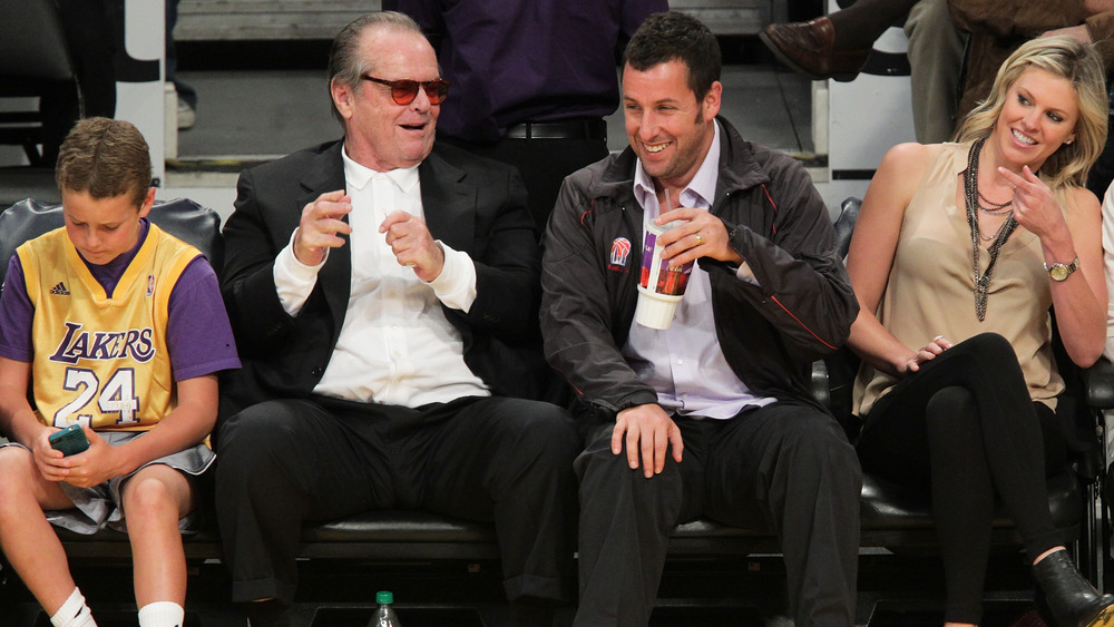 Jack Nicholson avec Adam Sandler au match de basket