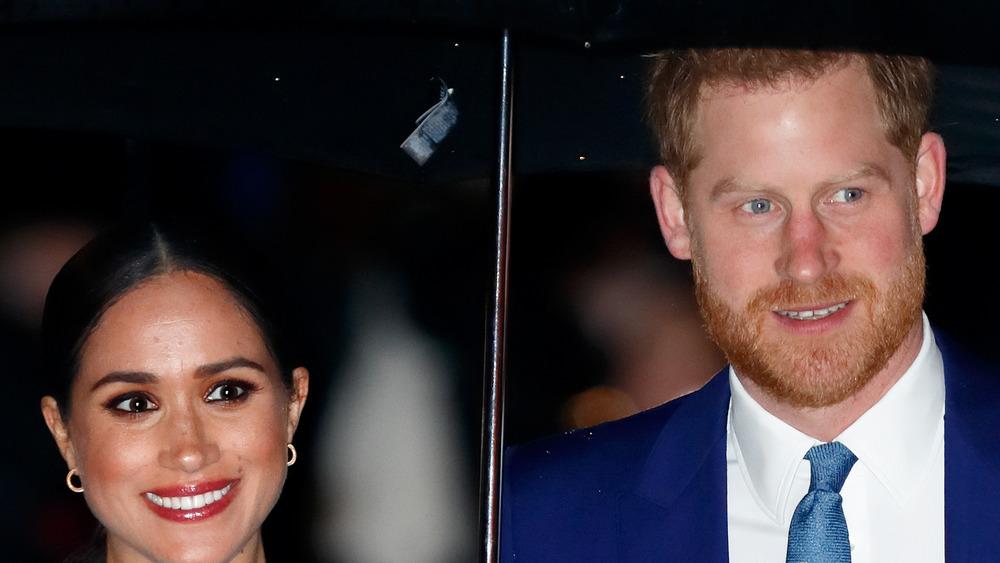 Meghan Markle et le parapluie du prince Harry