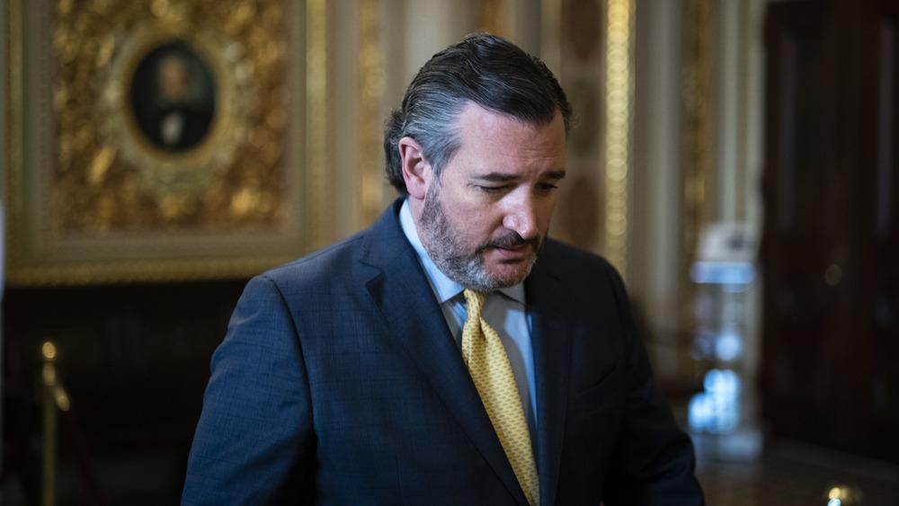 Ted Cruz sort du procès de destitution de Donald Trump, 12 février 2021