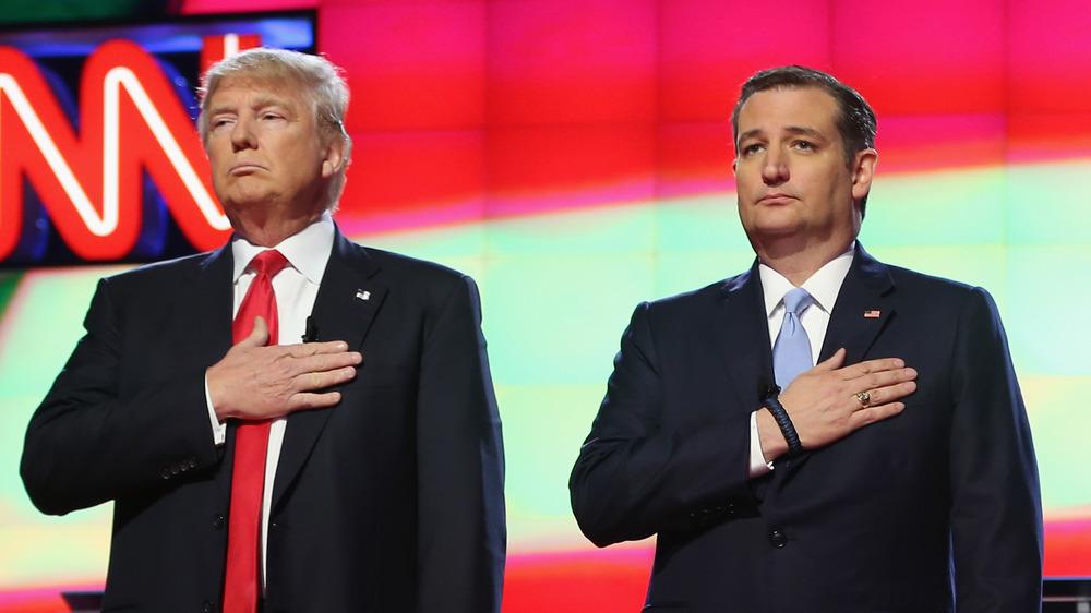 Donald Trump et Ted Cruz lors des primaires de 2016