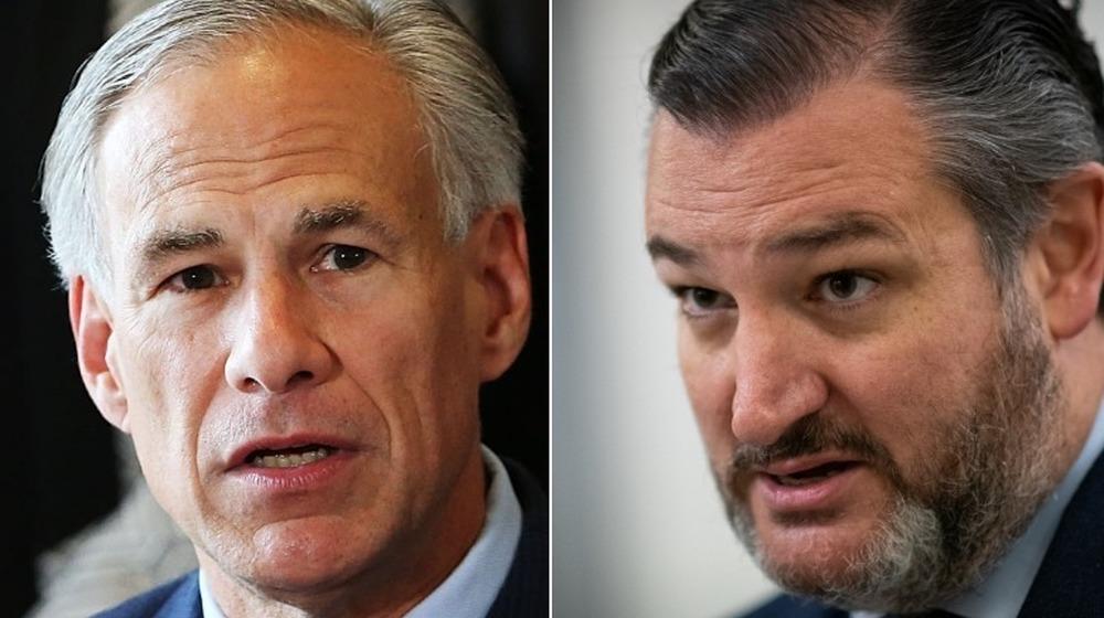 Le gouverneur du Texas, Greg Abbott et le sénateur Ted Cruz