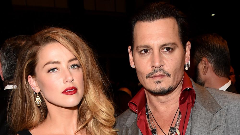 Amber Heard et Johnny Depp lors d'un événement