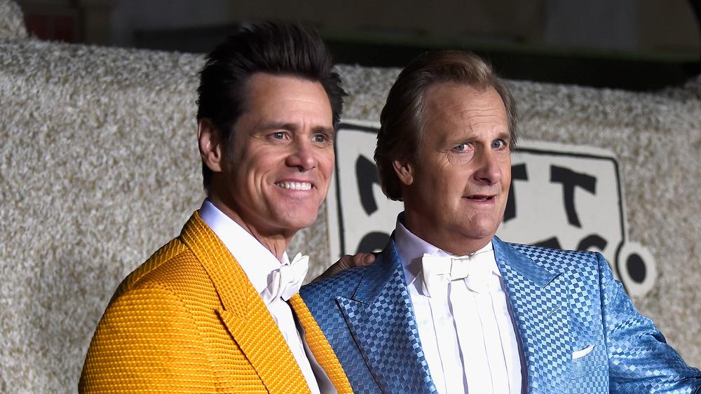 Jim Carrey et Jeff Daniels posent ensemble à la première de Dumber and Dumber To