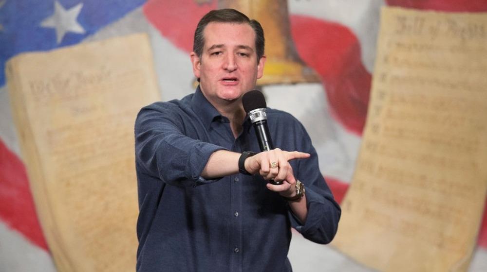 Le sénateur Ted Cruz s'exprimant lors d'un rassemblement