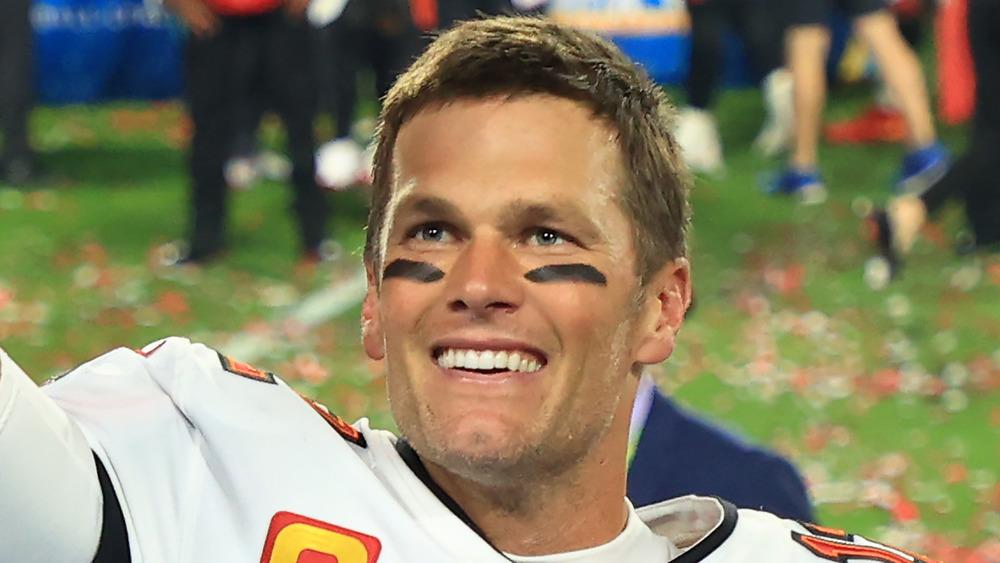 Tom Brady célèbre sa victoire au Super Bowl