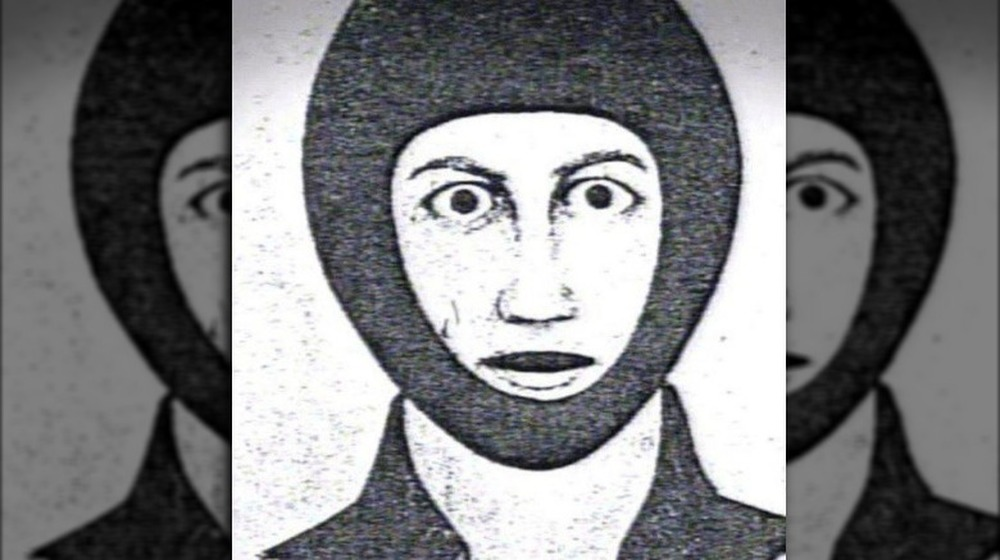 Croquis de la police de DeAngelo dans un masque de ski sans visage