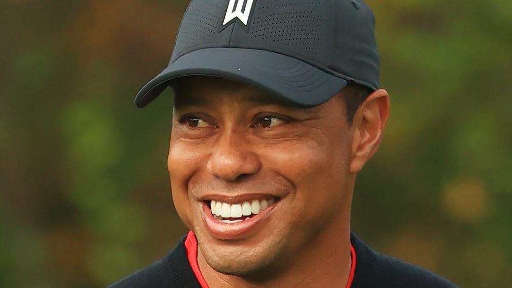 Tiger Woods au golf à Orlando, en Floride, en décembre 2020