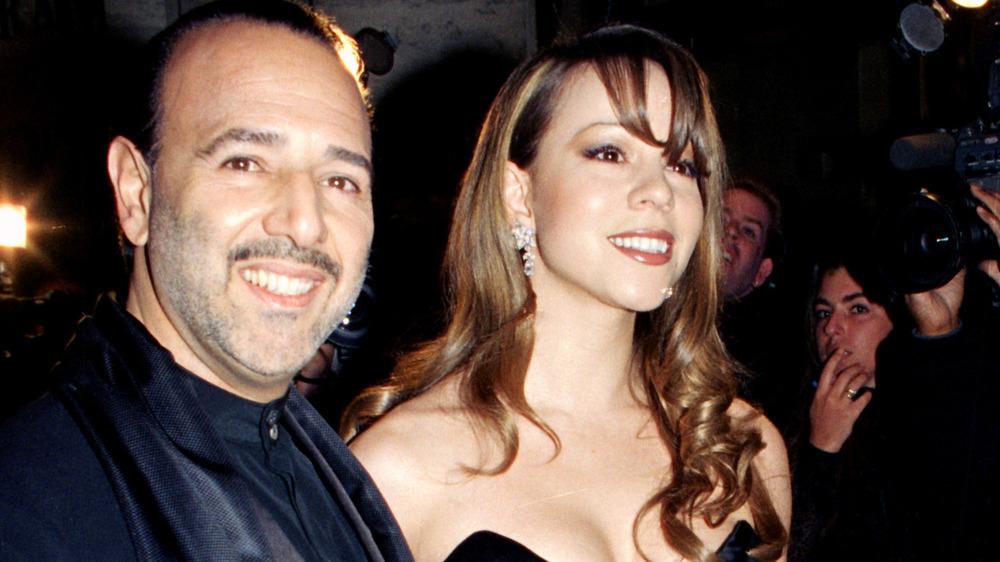 Tommy Mottola et Mariah Carey souriant
