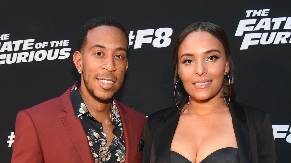 Ludacris et Eudoxie Mbouguiengue souriant
