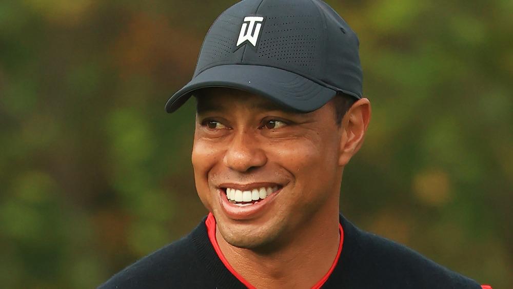 Véhicule Tiger Woods après un accident
