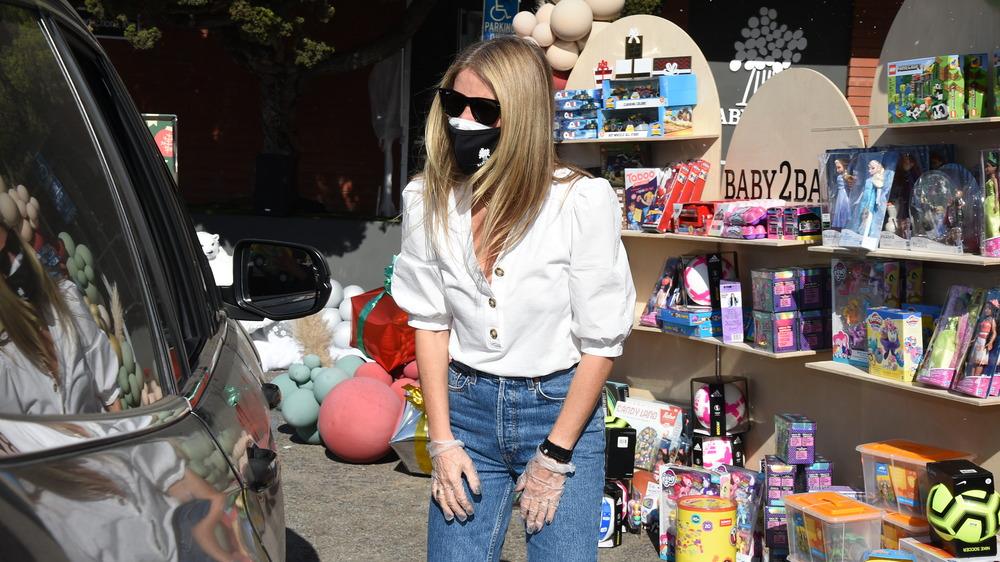 Gwyneth Paltrow portant un masque facial en décembre 2020
