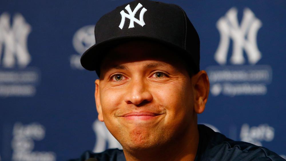 Alex Rodriguez Yankees chapeau souriant