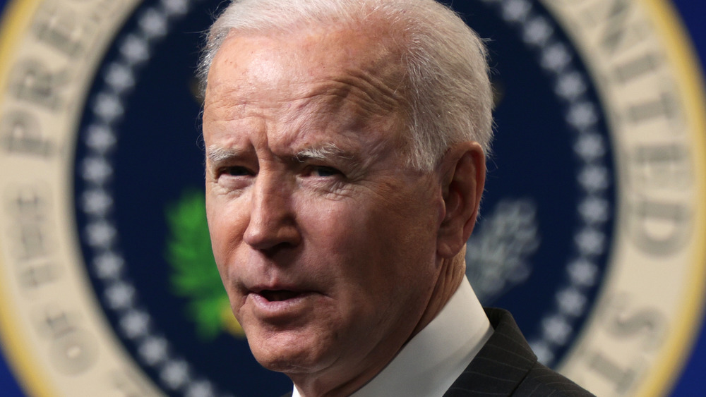 Joe Biden parlant