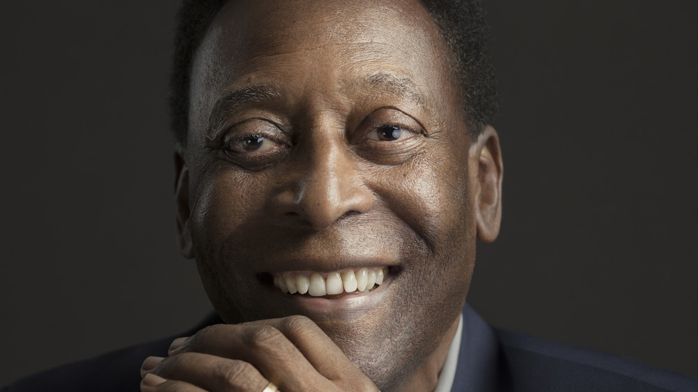 Pelé souriant et posant en 2018