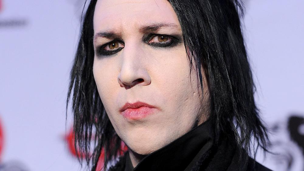 Marilyn Manson lors d'une remise de prix
