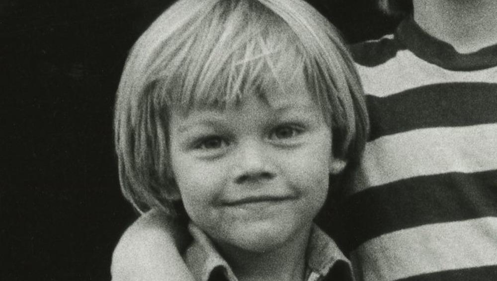 Leonardo DiCaprio en photo noir et blanc de juillet 1978