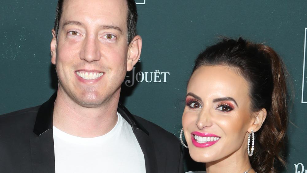 Kyle Busch et sa femme Samantha Busch souriant