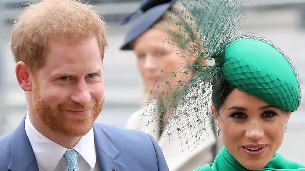 Le prince Harry et Meghan Markle lors d'un événement