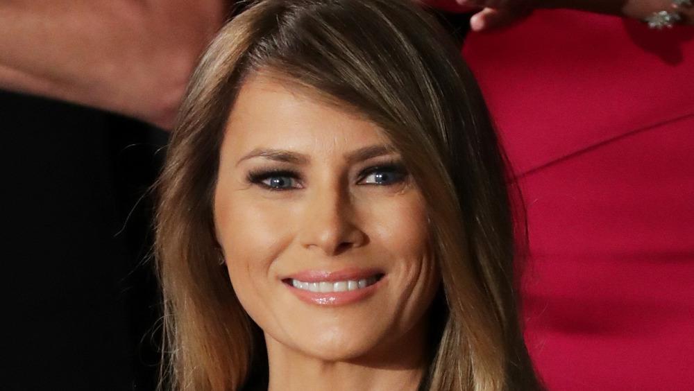 Melania Trump souriante au Congrès, février 2017