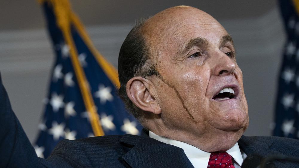 Rudy Giuliani parlant