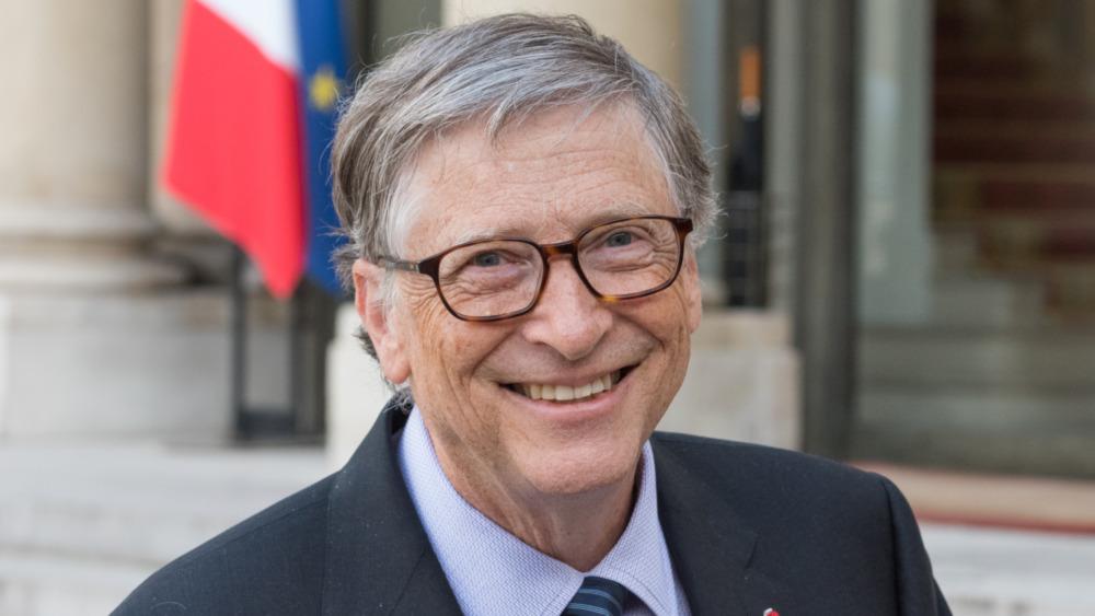 Bill Gates posant pour un portrait