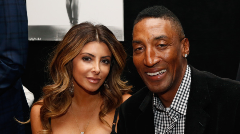 Larsa Pippen et Scottie Pippen assis ensemble
