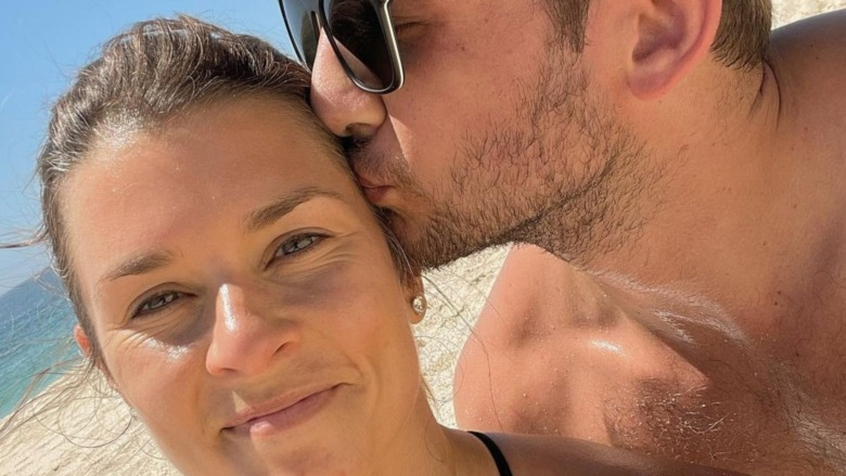Danica Patrick et Carter Comstock à la plage