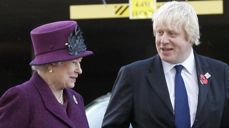 La reine Elizabeth II et Boris Johnson