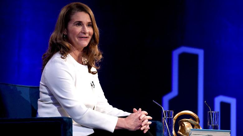 Melinda Gates s'exprimant lors des conversations SuperSoul d'Oprah