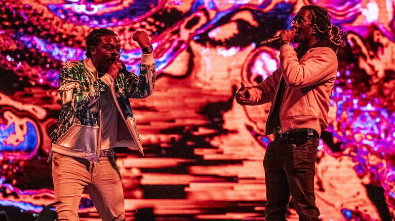 Gunna et Young Thug sur scène
