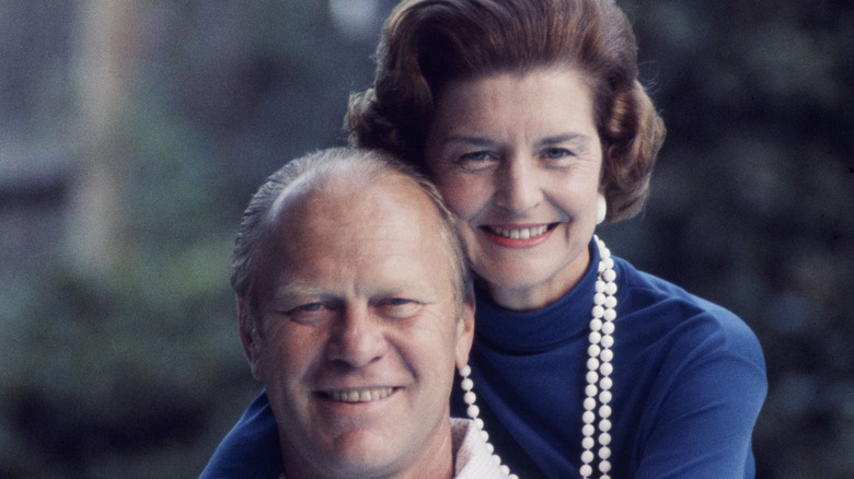 Gerald et Betty Ford souriant
