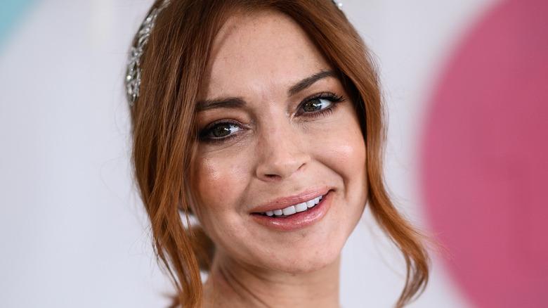 Lindsay Lohan souriante
