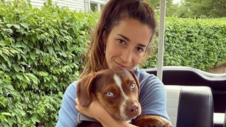 Aly Raisman avec le chien Mylo