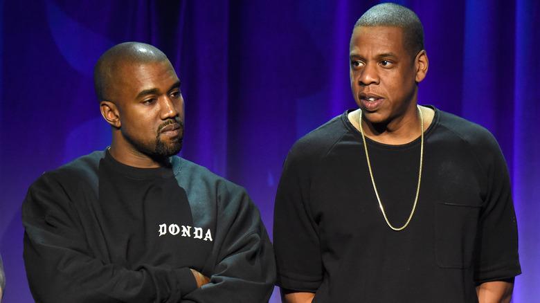 Kanye West et Jay-Z lors d'un événement