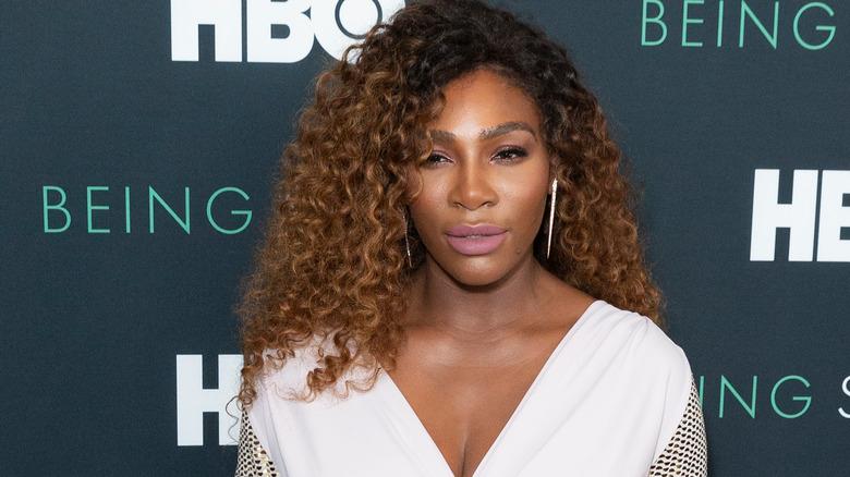 Serena Williams en robe blanche