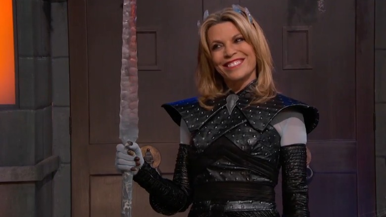 Vanna White en costume d'Halloween